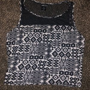 Aztec crop top